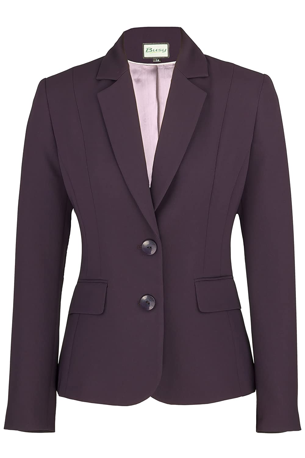 Busy Clothing Womens Dark Purple Suit Jacket