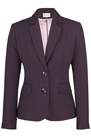 Busy Clothing Womens Dark Purple Suit Jacket: Amazon.co.uk: Clothing