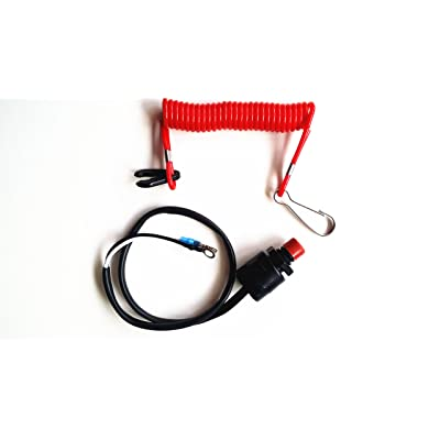 SouthMarine Boat Motor Kill Stop Switch & Safety Tether Lanyard for Yamaha/Tohatsu/Honda Outboard Motors: Sports & Outdoors