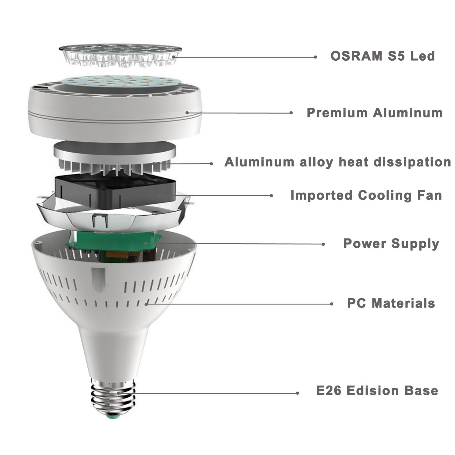 Yoursme Swimming Pool Led Light Bulb White 120V 50W 6500K 300-600w Traditional Bulb Replacement Compatible for Most Pentair Hayward Light Fixture