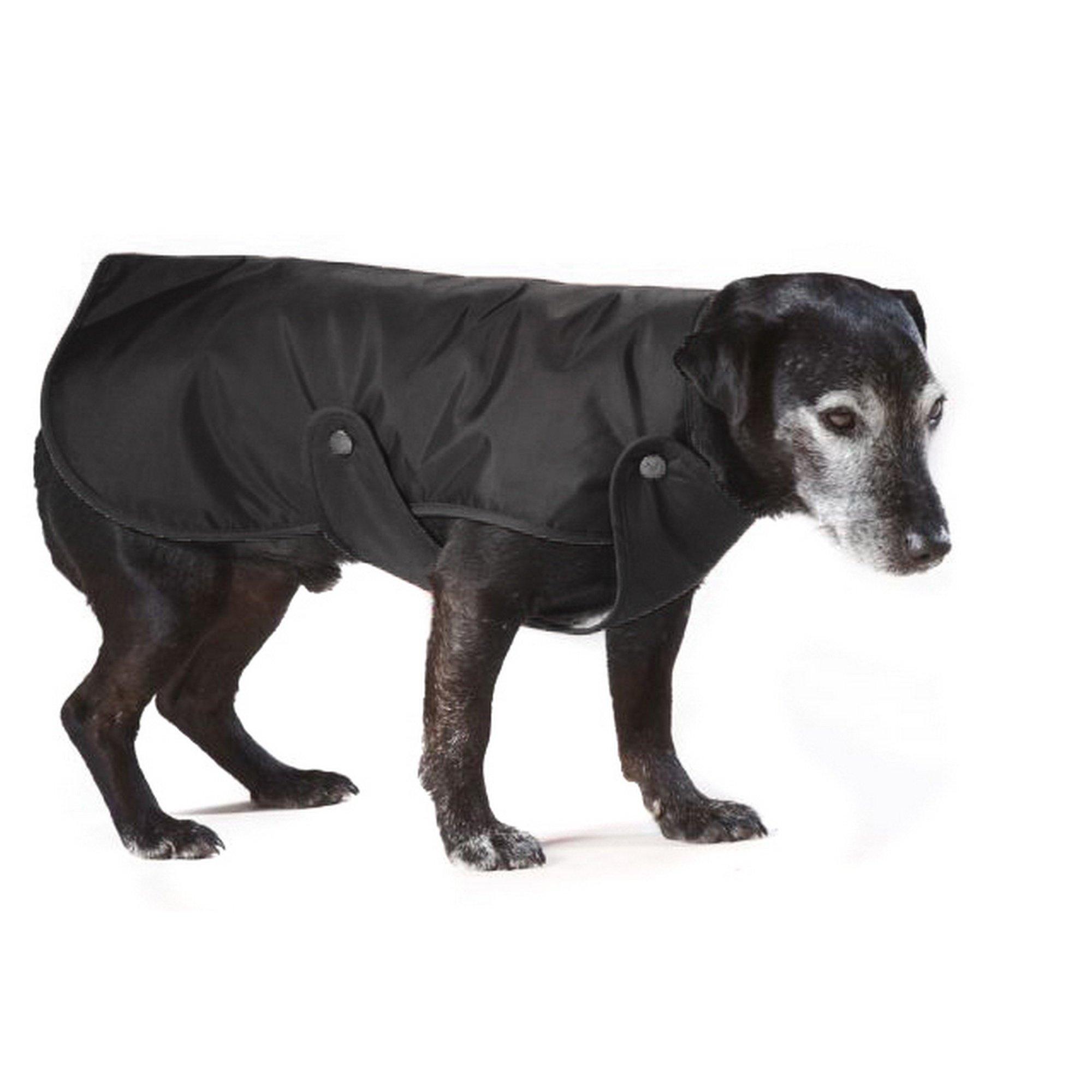 Cosipet Lined Dog Rain Coat (8in) (Black)
