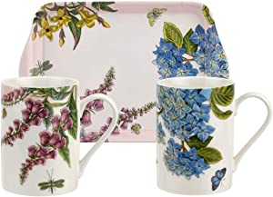 Pimpernel Botanic Garden Terrace Set of 2 Mugs & Tray