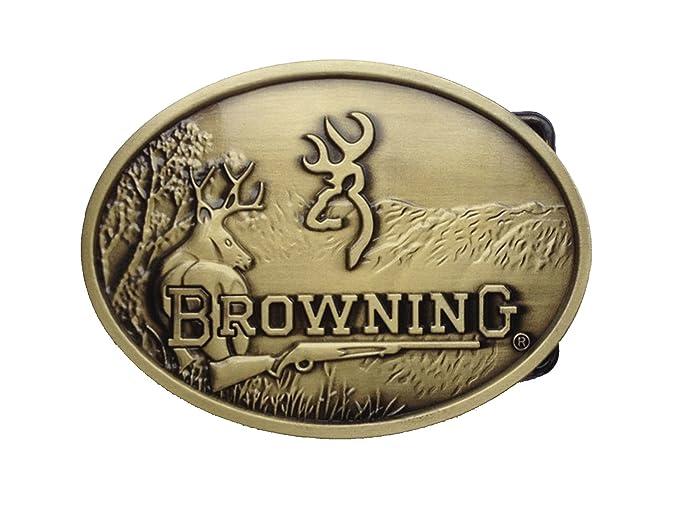 Amazon.com  BROWNING Belt Buckle Browning Embossed Metal Logo Belt ... 87d41832c