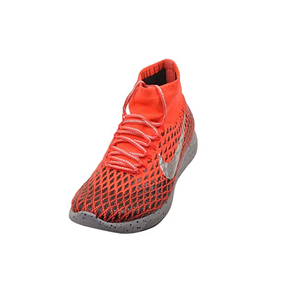 Amazon.com | Nike Mens LunarEpic Flyknit Shield, Bright Crimson / Metallic Silver | Running