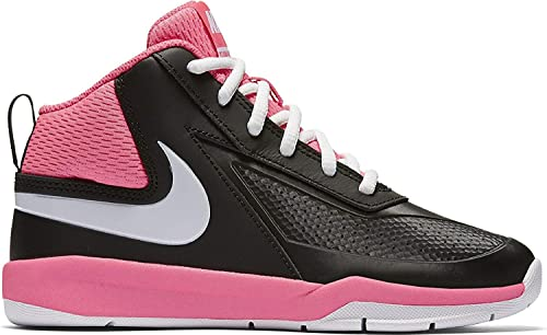 d116a5b1ae Nike Boy's Team Hustle D 7 Basketball Shoe Black/White/Hyper Pink Size 1