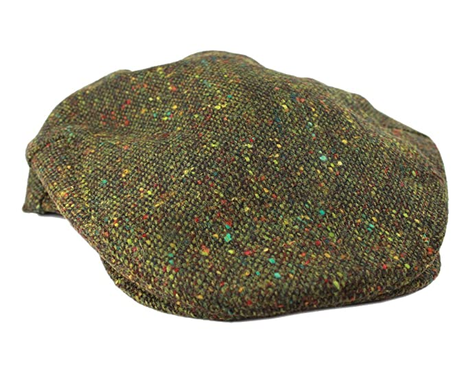 034914bdff314 John Hanly   Co. Irish Tweed Flat Cap - Green Donegal Fleck  Amazon ...