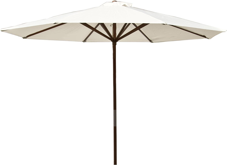 Heininger 1289 DestinationGear Classic Wood Natural 9' Market Umbrella