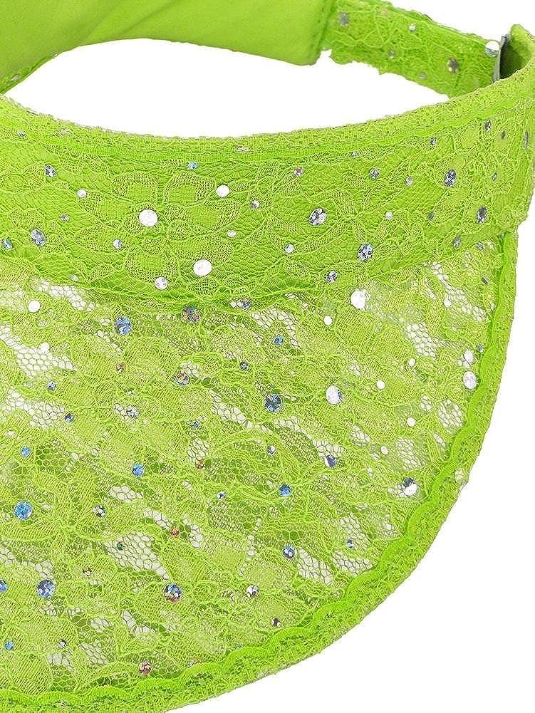 5cb9e7b9a975d Women s Oversized Lace Sequin Brim Sun Visor Hat Cap HT-7202-400-85BK  larger image