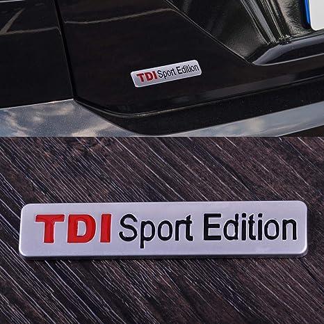 SalaBox-Accessories - TDI Sport Edition Auto Car Styling Emblem Badge Decal Sticker Metal 3D Turbo Direct Injection - - Amazon.com