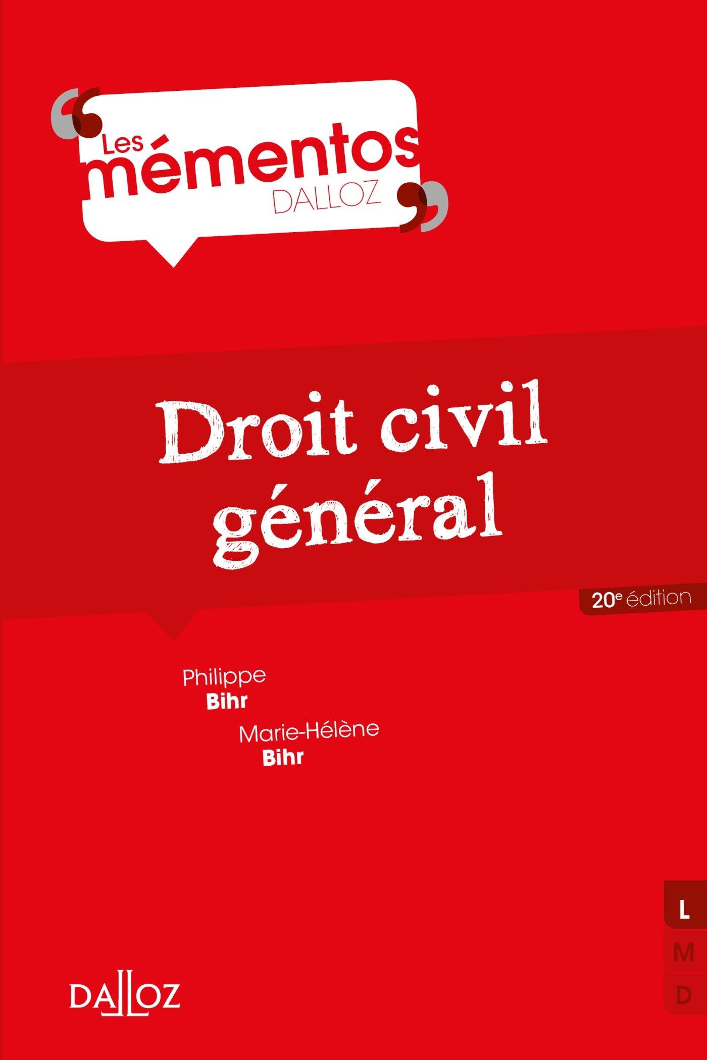 Amazon.fr - Droit civil général - 20e éd. - Philippe Bihr, Marie-Hélène  Bihr - Livres