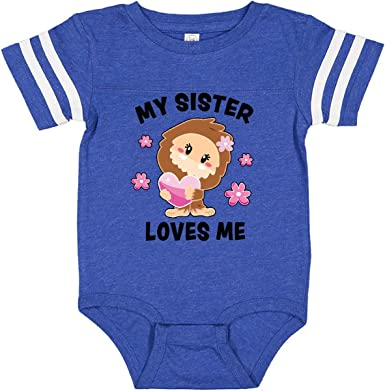 inktastic My Sister Loves Me with Bigfoot Toddler T-Shirt