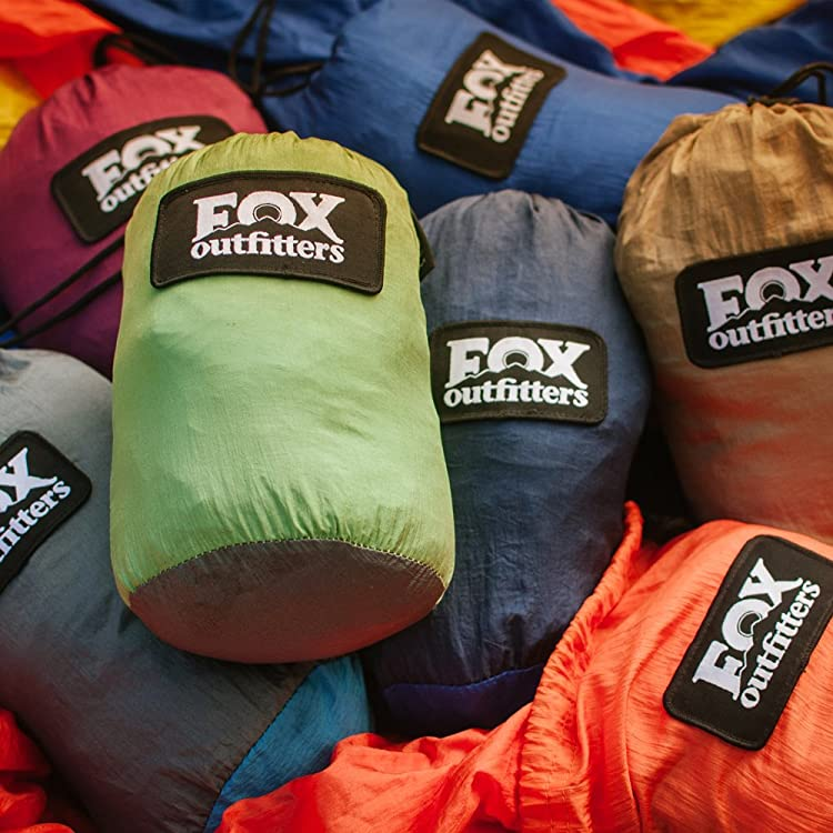 Fox Outfitters Neolite Double Hammock is the perfect hammock for camping, backpacking or travel with different colors