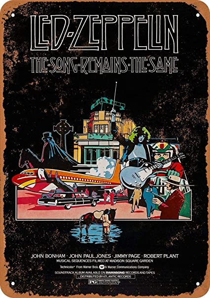 Amazon.com: Killy Led Zeppelin The Song Mains Wall Tin Sign ...