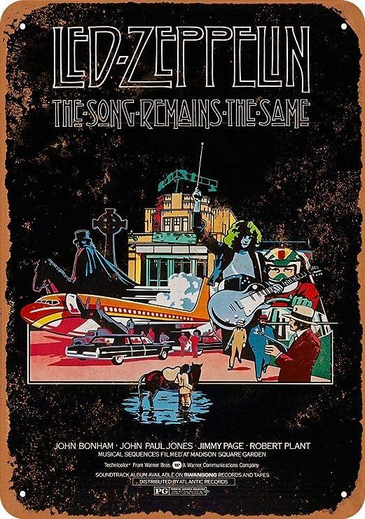 Led Zeppelin The Song Mains Póster de Pared Metal Creativo ...