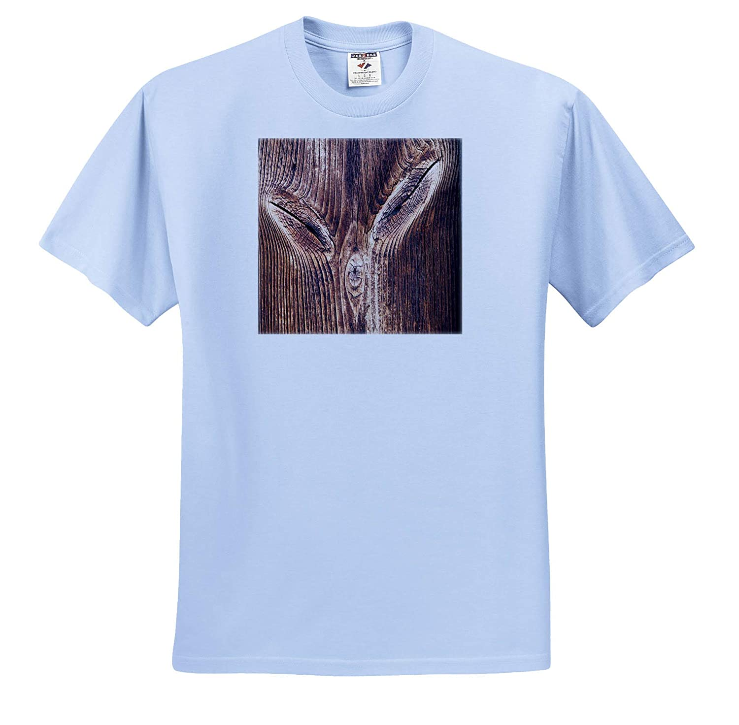 Weathered Woods Image of Wood Trunk with Cats Face Adult T-Shirt XL 3dRose Lens Art by Florene ts/_316011