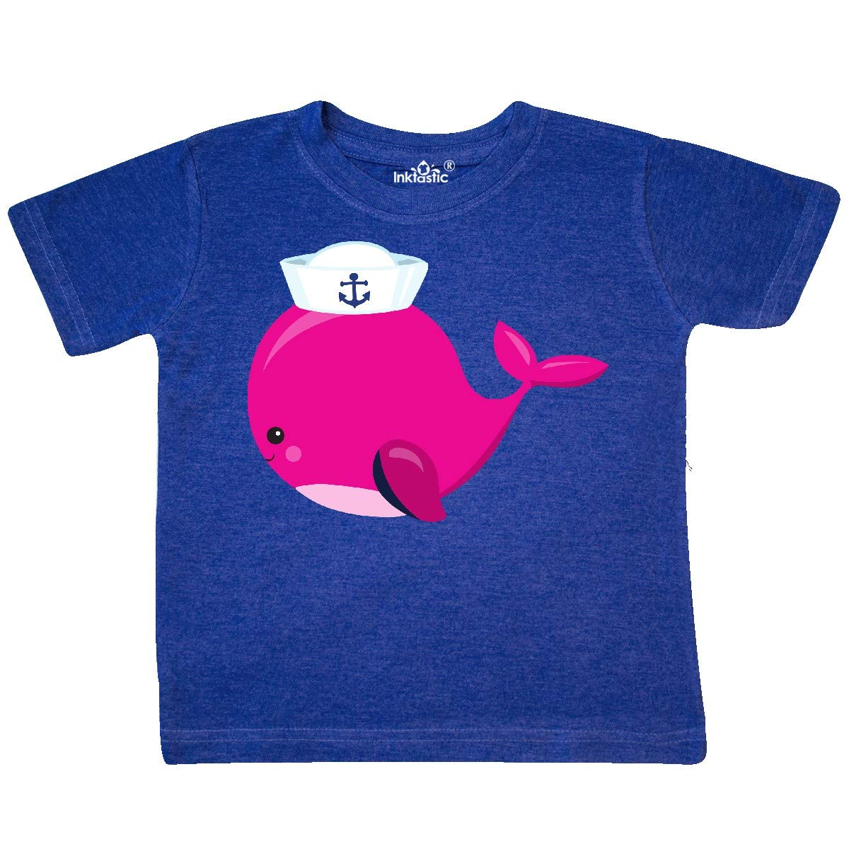 Sailor Whale Toddler T-Shirt inktastic Pink Whale Wearing Sailor Hat