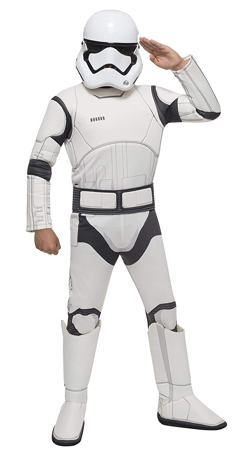Star Wars VII: The Force Awakens Deluxe Childs Stormtrooper Costume and Mask, Large
