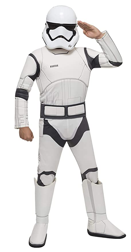 Star Wars VII: The Force Awakens Deluxe Childs Stormtrooper Costume and Mask, Medium