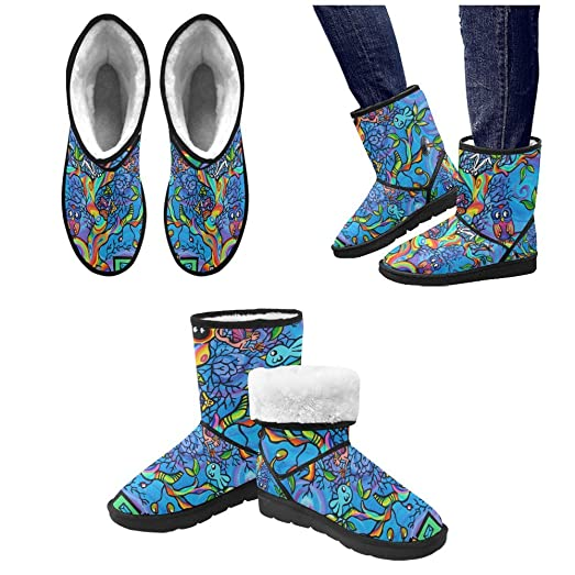Winter Boots Pattern of loving cats Custom Unisex Snow Boots M047