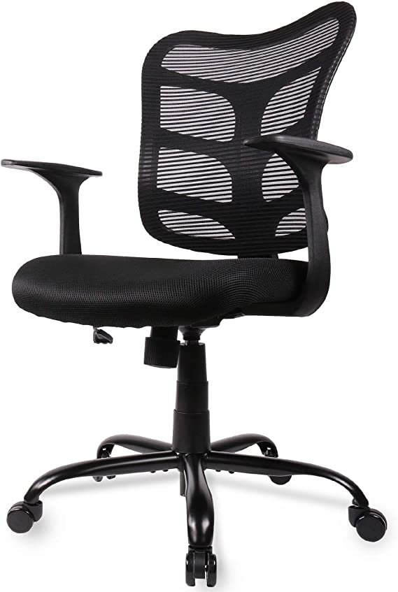 Smugdesk 0581F Ergonomic Office Mesh Computer Desk Swivel Task Chair with Armrests and Lumbar Support