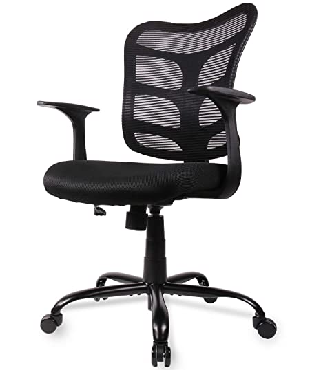 Marvelous Smugdesk 0581F Ergonomic Office Mesh Computer Desk Swivel Task Chair With Armrests And Lumbar Support Black Dailytribune Chair Design For Home Dailytribuneorg