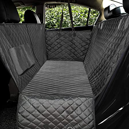 Amazon Com Honest Luxury Quilted Dog Car Seat Covers With Side Flap Pet Backseat Cover For Cars Trucks And Suv S Waterproof Nonslip Diamond Pattern Dog Seat Cover Black Large 57 Wx60 L