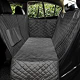 Honest Luxury Quilted Dog Car Seat Covers with Side Flap Pet Backseat Cover for Cars, Trucks, and Suv's - Waterproof…