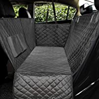 Honest Luxury Quilted Dog Car Seat Covers with Side Flap Pet Backseat Cover for Cars, Trucks,…