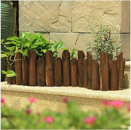 ZENGAI-vallas De JardíN Borde del Borde del Césped Empalizada Jardín Cerca De Madera De La Frontera Una Vida Más Larga Antiséptico Durable Diseño Alto Y Bajo (Size : 118X25/20XM): Amazon.es: Jardín