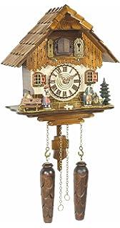 Trenkle Quartz Cuckoo Clock Black Forest House with Music TU 472 QM