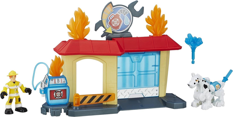 Transformers Playskool Heroes Rescue Bots Griffin Rock Garage by