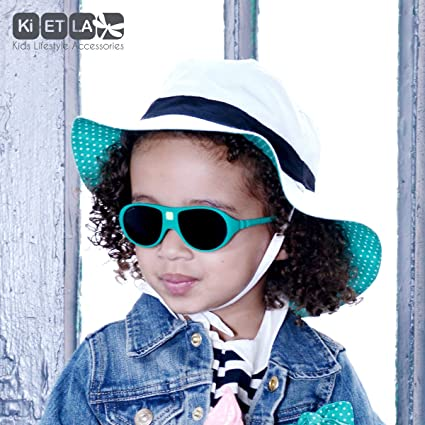 8a371be8c123 Amazon.com  Ki ET LA – Sunglasses for kids Jokala style – 100% unbreakable  – Emerald Green – 2-4 years old  Clothing