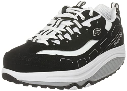 Skechers Women's Shape Ups Strength Fitness Walking Shoe,Black/White,5.5 M US