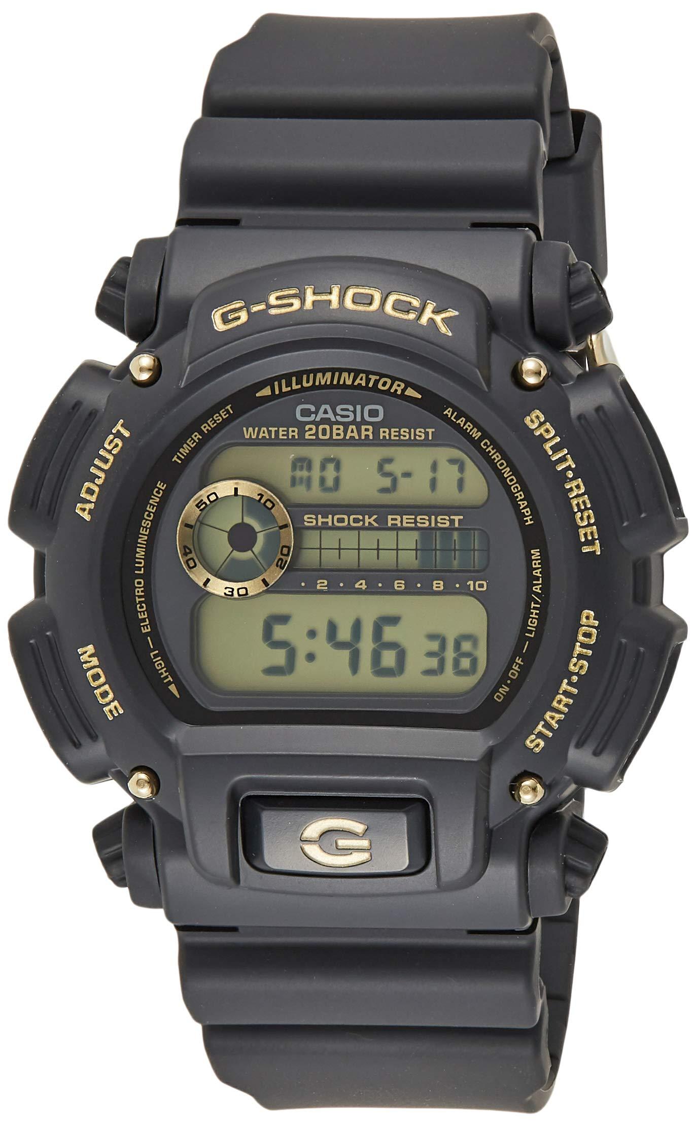 Casio DW9052GBX-1A9 G-Shock Chronograph Digital Men's Watch (Black/Gold) by Casio
