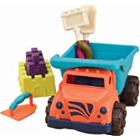 "B. Toys – Coastal Cruiser – 15"" Toy Dump Truck with 5 Funky Sand Toys for Kids 18 M+ (6-Pcs)"