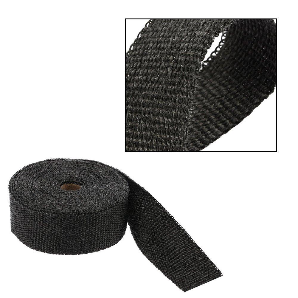 y 6/ Cable Ties KKmoon 15/m Rollo de Cinta Aislante Wrap Turbo Pipe Wrap Aislante t/érmico de Calor de bajante de colector de Escape 1,5/mm de Grosor