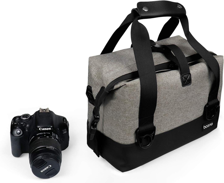 Boona Canon Funda impermeable de terciopelo para c/ámara r/éflex digital Sony Pentax y lentes Nikon