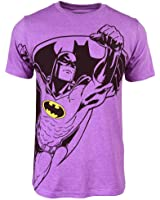 Batman Mens Neon Purple Heather Tee