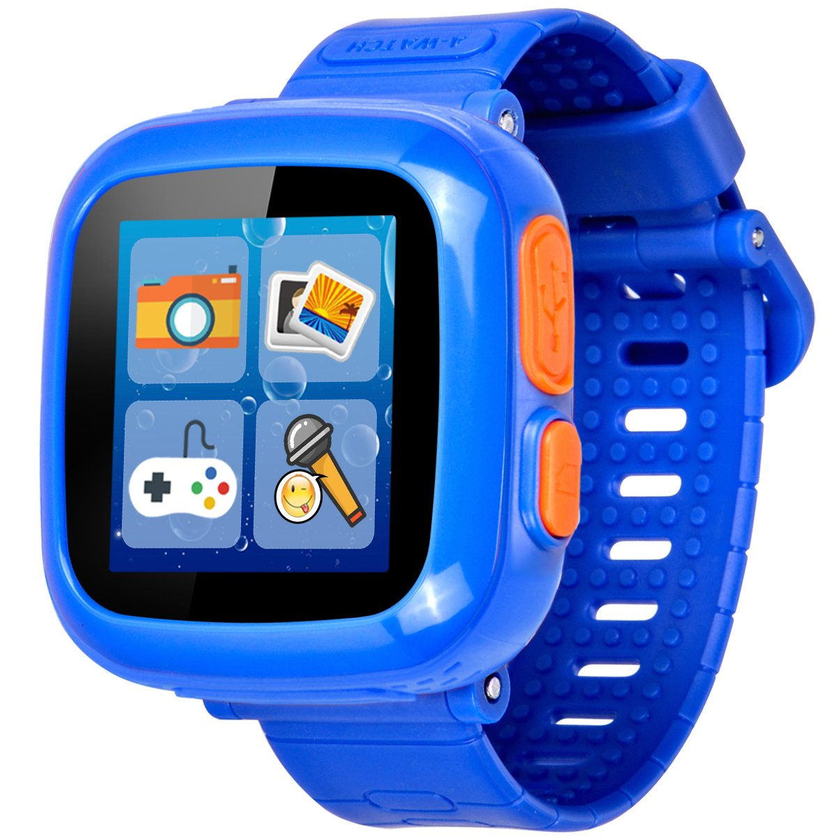 GBD Kids Game Watch,1.5'' Touch Smart Watches for Summer Birthday Gifts Travel Camping Kids Boys Girls with Pedometer Camera Alarm Clock Electronic Learning Toys (03Dark Blue)
