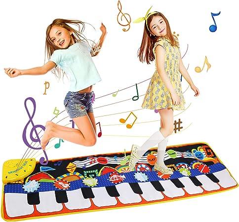 Alfombra de Piano, LEADSTAR Alfombra Musical para Niños, Musical Canto Teclado Estera de Alfombra Bebé Niño Actividad Juego De Gimnasio Colchonetas ...