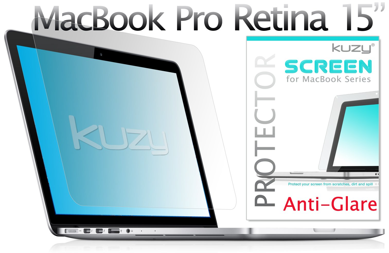 Kuzy - Anti-Glare Retina 15-inch Screen Protector Film for Apple MacBook Pro 15.4'' with Retina Display (Model: A1398) - Anti-Glare