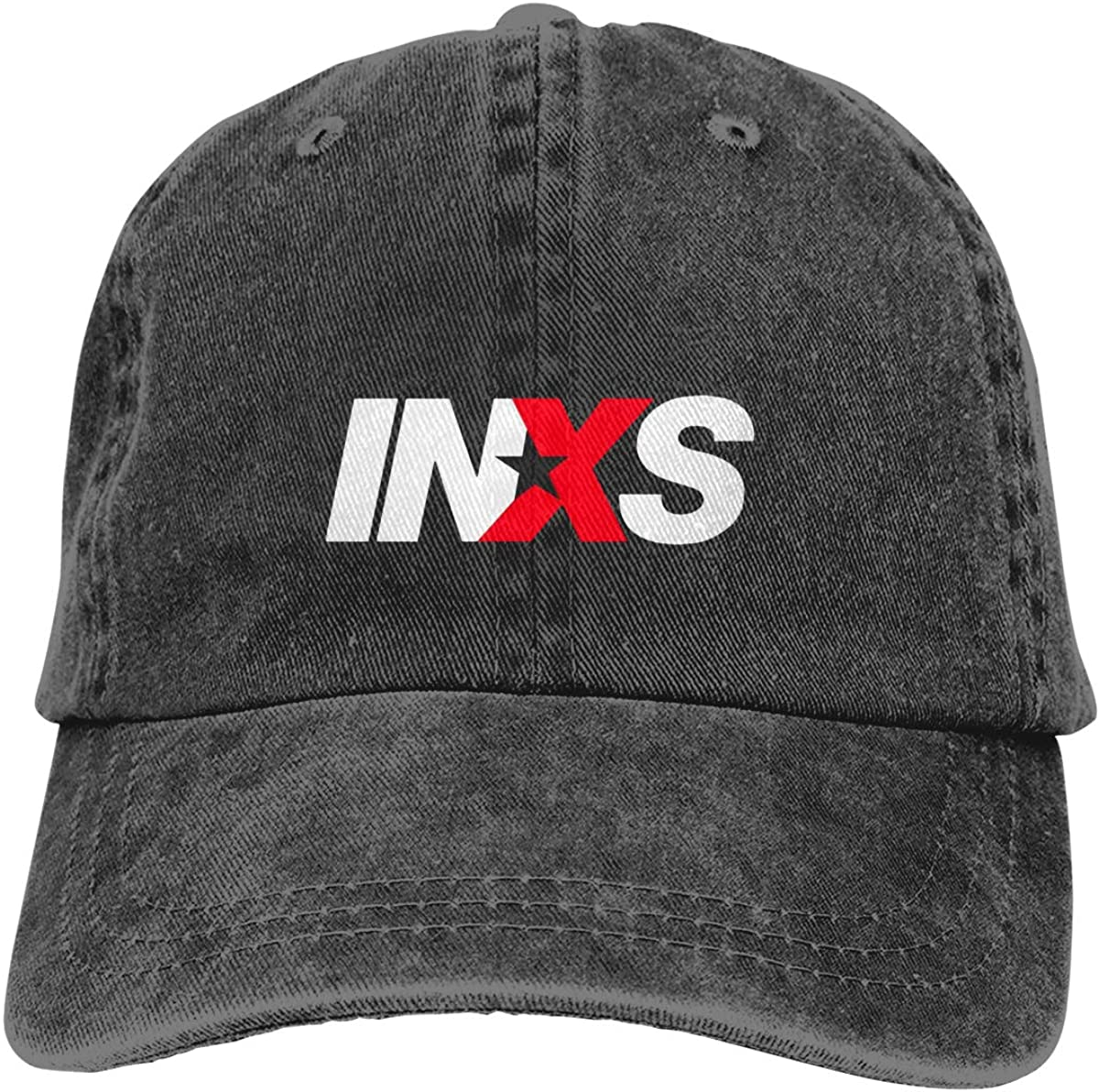 INXS Logo Unisex Baseball Caps Vintage Adjustable Denim Dad Hat Casquette
