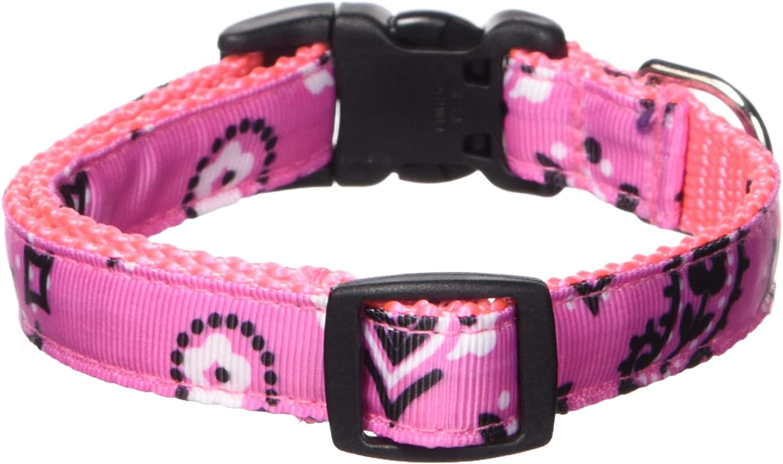 Over the collar bandana; Sassy Pink dog bandana; Bandana  print dog bandana; slide over collar ; pet neckerchief; pet accessories