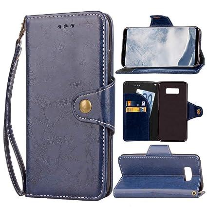 Amazon.com: Funda de piel tipo cartera para Samsung de lujo ...
