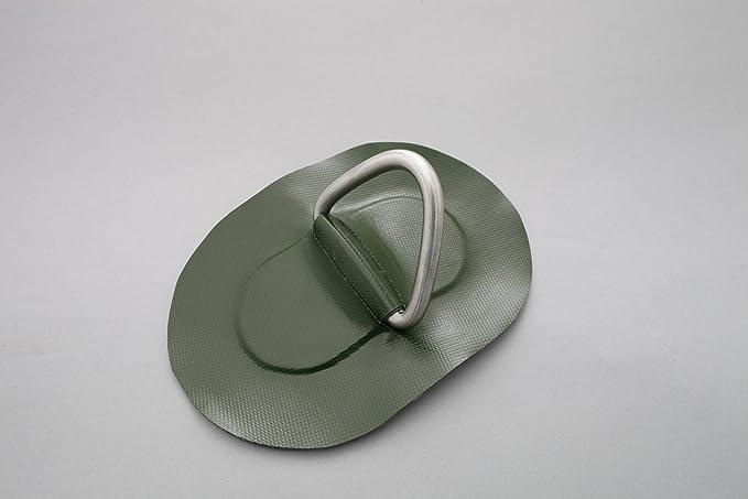 D-Ring für Schlauchboote grau Beschlag zum Aufkleben aus Valmex Bengar DR-02