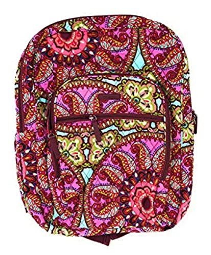 70c8ade89 Vera Bradley Campus Backpack with Solid Color Interior (Resort Medallion)