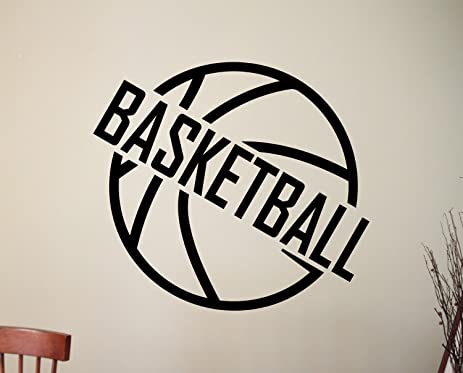 Basketball Logo Vinyl Wall Decal Sticker Home Interior Decorations Sports  NBA Art Boys Room Bedroom Office