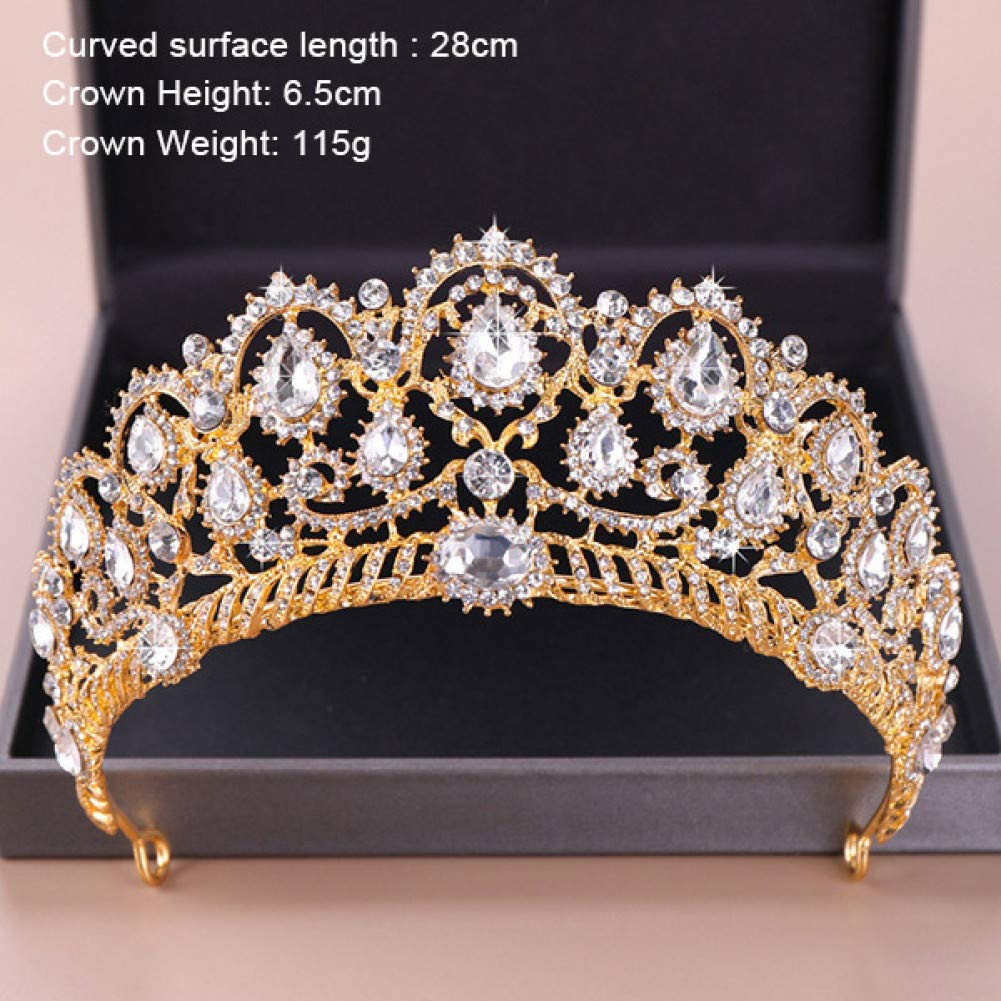 HG008 BGHMA Bridal Headdress Vintage Tiaras and Crowns Wedding Bridal Diadem Hair Ornaments for Women gold Pearls Crystal Hair Jewelry Pageant
