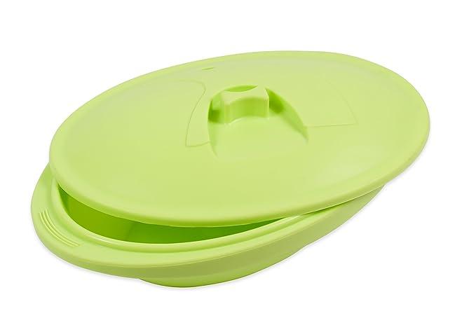 PINFI 81133 - Papillote/Estuche de Vapor de Silicona, 1400 ml, Color Verde