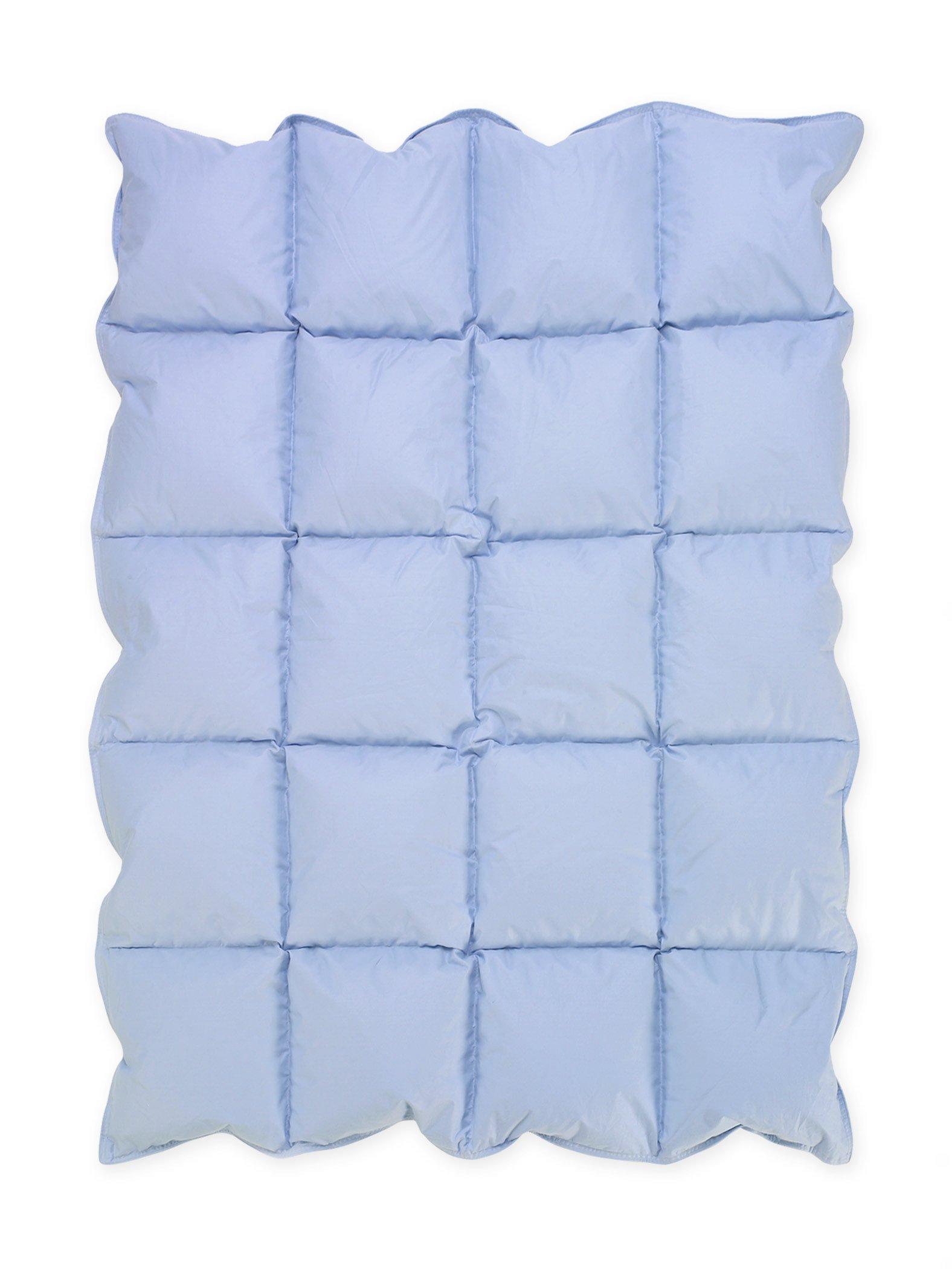Sweet Jojo Designs Baby Blue Down Alternative Comforter/Blanket for Crib Bedding